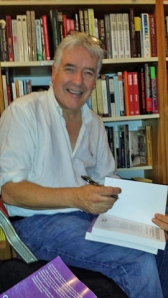 Alan signing his book at a Word Power event in Edinburgh recently